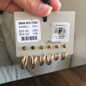 Urban Outfitters Jewelry - NWT Urban Outfitters gold hoop earring set